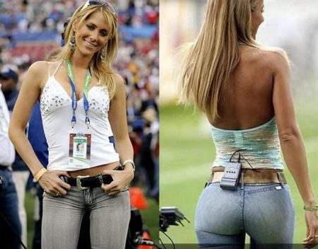 ines sainz clothing to blame for jets' conduct? (photos